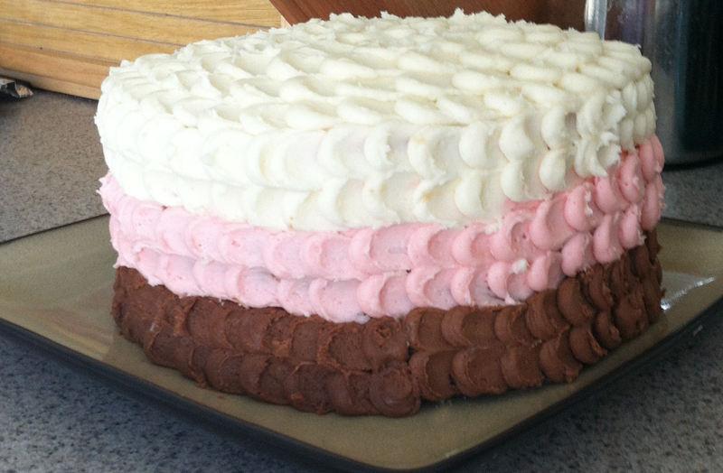 How To Design A Cake Using Butter Icing : Neapolitan Buttercream Icing Recipe Adori Designs ...