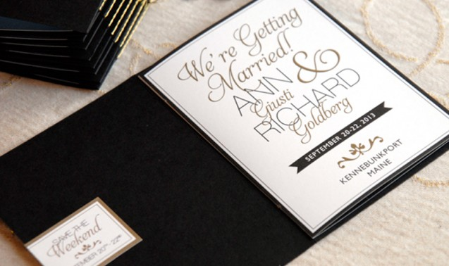 Booklet invitations Adori Designs Custom Wedding Invitations and
